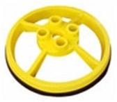 SRC 360 - MOBILE SAFETY RAIL BASE PLATE - YELLOW