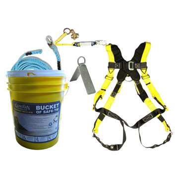 Guardian 00815 Bucket of Safe-Tie Premium Roofing Kit w/XL Harness