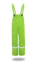 LINED PVC BIB OVERALLS .35MM, HIGH-VIS FLUORESCENT GREEN