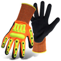 BOSS BARBARIAN NITRILE PALM WITH KNIT WRIST