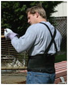 ECONOMY BACK SUPPORT WITH SUSPENDERS