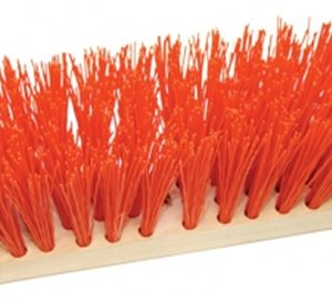 "16"" Street Broom w/Orange Poly Fill"