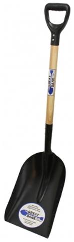 #2 Steel Scoop w/Wood Handle & Poly D-Grip
