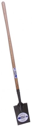 Smooth Edge Tear-Off Spade w/ Long Wood Handle & Fulcrum