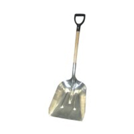 #10 Aluminum Scoop Shovel with Wood D-Handle