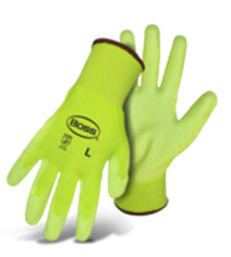 PALM DIP HIGH-VIS GREEN WITH COLOR CODED HEM KNIT WRIST