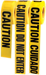 BARRICADE TAPES- CAUTION