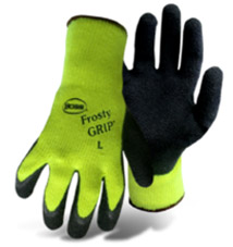 BOSS FROSTY GRIP HIGH-VIS INSULATED KNIT LATEX PALM #8439N