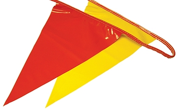 Osha Pennant Flags Red/Yellow