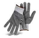 String Knit Gray Reversible w Full PVC Dots Color Coded Hem-1JP5532