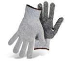 String Knit Gray with Black Dot Palm Color Coded Hem-1JP5531